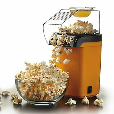Hot Air Table Top Electric Pop Corn Maker Machine With Butter Dispenser - Yellow