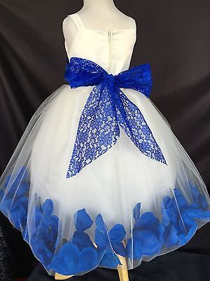 Flower Girl Bridesmaids Elegant Wedding Summer Spaghetti Girl Dress #38