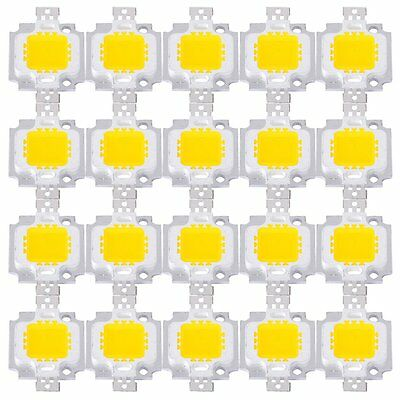 20PCS 10W High Power Super Bright Light Lamp LED Chip Warm White
