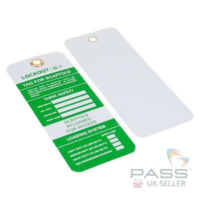 Scaffolding Tags - ''Released for Access'' (Pack of 10) Green