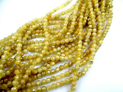6MM  NATURAL faceted citrine GEMSTONE LOOSE BEADS 1 strand