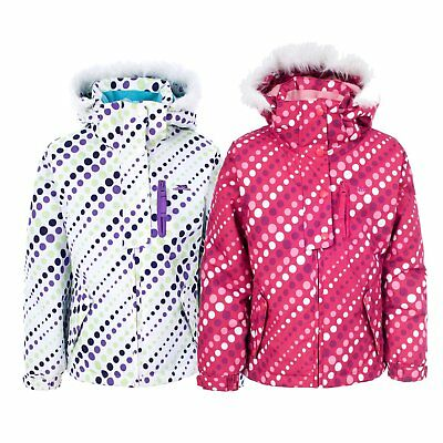 Trespass Ameera Girls Waterproof Hooded Winter Coat Warm Winter Kids Ski Jacket