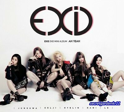 EXID 2nd Mini Album AH YEAH :: CD w/booklet+Photocard+Poster+Gift Photo,New,exid