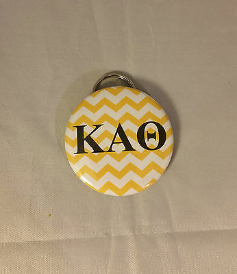 Kappa Alpha Theta Sorority Chevron Key Chain with Bottle Opener- New!