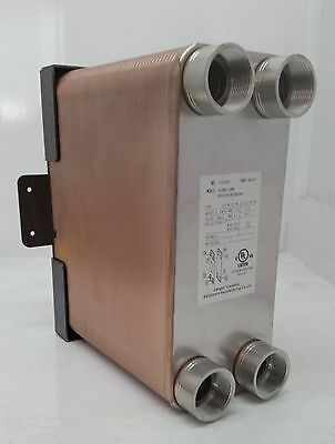 """100 Plate Water to Water Plate Exchanger 1 1/4"""" FPT Ports W/FREE Install Bracket"""