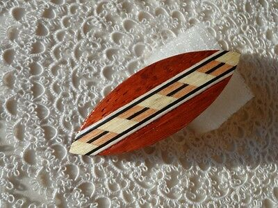 Beautiful handmade rosenwood tatting shuttle with inlay