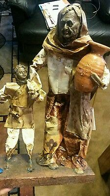 Vintage Collection of Museum House Art African American Papier Mache Statues.