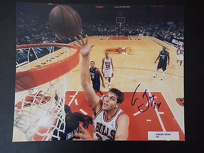 """Aaron Gray Autographed 8"""" X 10"""" Photograph"""