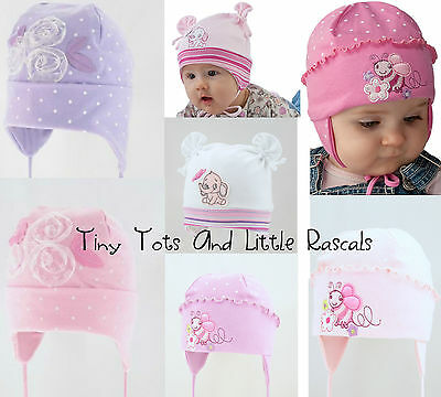 Baby Girls Toddlers Spring Autumn Cotton Elastic Hat Size 0-24 months 2-4 Years