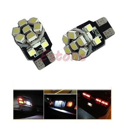 2x Xenon White T10 13-SMD LED 194 168 W5W 360° Bulb Car License Plate Light 12V