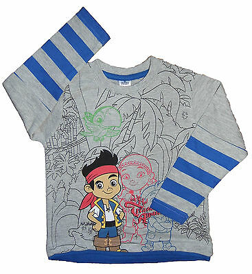 Boys Jake and The Never Land Pirates Long Sleeve Mock Layered Top Ex Store