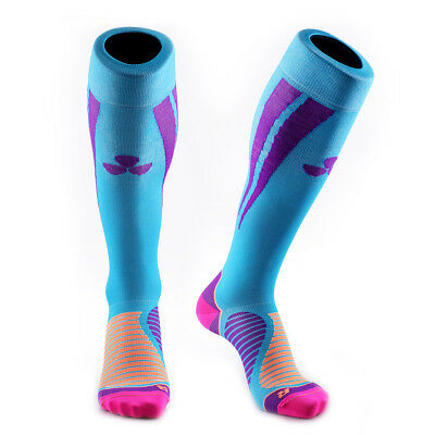 Samson® Compression Socks Blue Purple Football Running Sport Gym Mens Womens