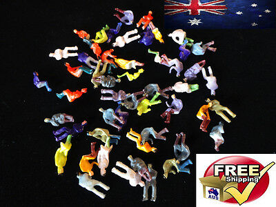 50 Ho Scale Model Train Figures Lotof 50 Seated People Painted Locomotive 1:87