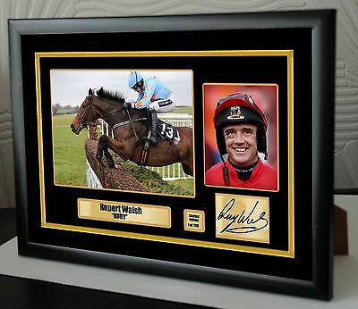 """Ruby Walsh Limited Edition Framed Canvas Tribute Print Signed """"Great Gift"""""""