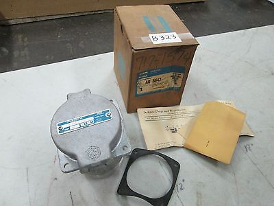 Crouse-Hinds Arktite Receptacle #AR-6642 Mod #M54 3-Wire 4-Pole 600V 60A (NIB)
