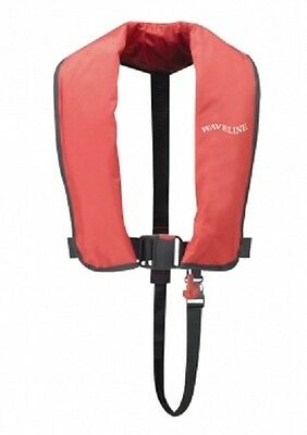 Waveline ISO Approved 165N Adult Automatic Lifejacket in RED. New from Stock