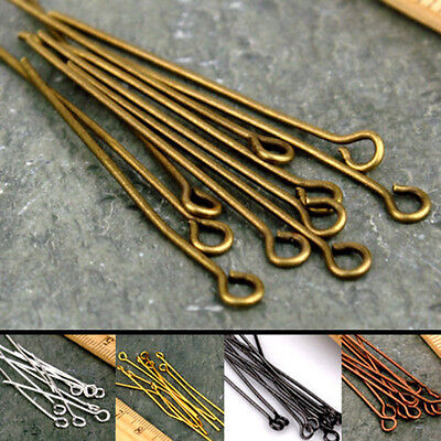 Wholesale Silver Gold Plated Eye Head Pin Jewelry Making 16/20/30/40/50/60mm