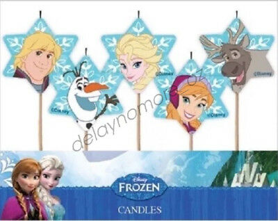 Disney Frozen Party Supplies 5 Character Candles Star Shape Cake Top Vic Stock