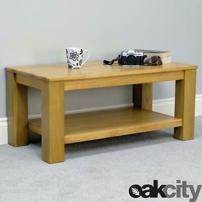 Oakland Chunky Oak Coffee Table With Shelf / Large Side Table / Brand New