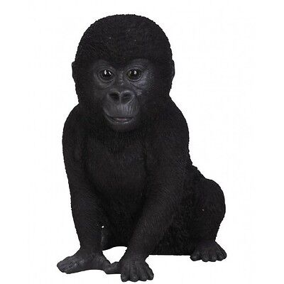 Garden Gorilla Statue Ornament Monkey Outdoor Indoor Patio Sculpture Baby NEW