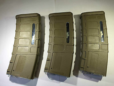 3 PCS BATTLEAXE M4 Airsof 300rds P MAG Magazine set for Airsoft AEG G&P A&K(Tan)