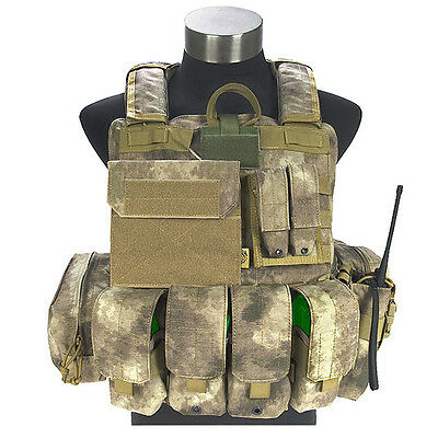 FLYYE FORCE RECON COMBAT Weste ver. MARITIME + Beutel ARMEE MOLLE A-TAC AU TARN
