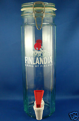 FINLANDIA VODKA (made in Italy) 1.8L DISPENSER with Tap VG Man Cave - in Aust.