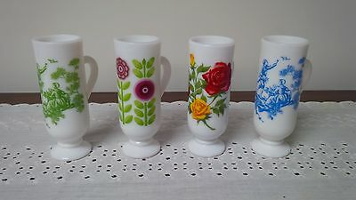Vintage Milk Glass Demitasse Cups Set of 4 Pcs by AVON ~ Late 60s