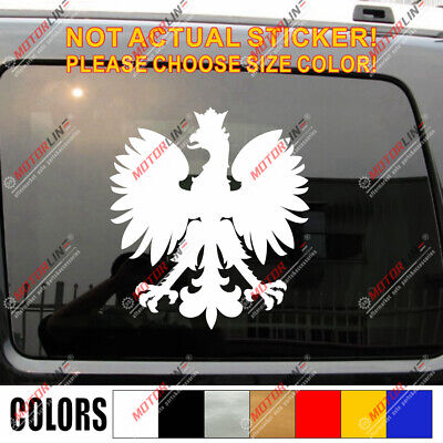Polish Eagle Poland Coat of Arms Decal Sticker Orzeł Biały Herb Polski Viny c