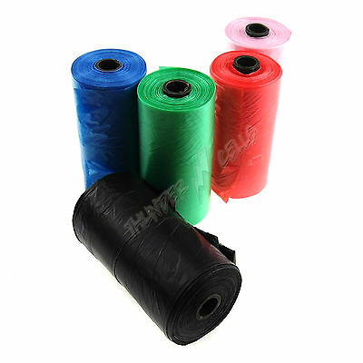 Lot Eco-friendly Green Dog Poop Portable Poo Scoop Waste Bags Roll Doggie Clean