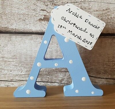 Christening gifts - personalised handmade wooden letter for christening gifts