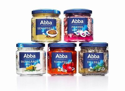 ABBA Sea Food Herring Sill With Different Flavors Made in Sweden ONLY