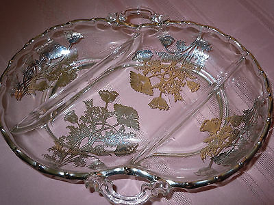 Crystal Relish Dish by Silver City Glass Company