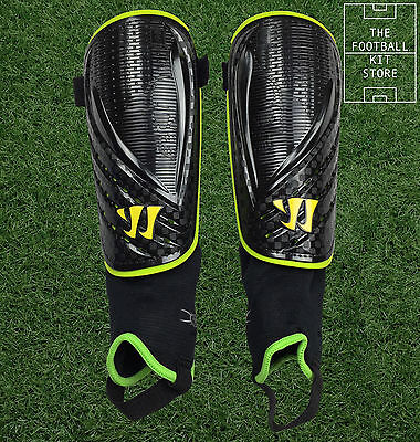 Warrior Football Shin Pads / Guards - With Ankle Protectors - Boys / Mens