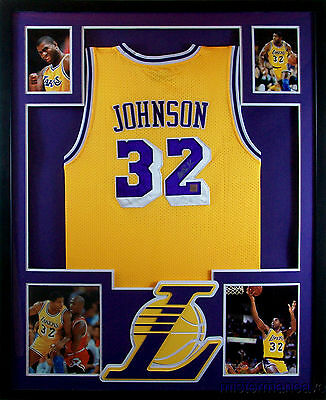 size 40 771a2 e31d3 MAGIC JOHNSON FRAMED Jersey Signed PSA/DNA COA Autographed Los Angeles  Lakers...