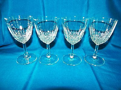 Set of 4 Luminarc Crystal Clear Glass Elegant Stemware Glassware Wine 8oz