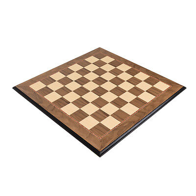"""Walnut Wood Chess Board - Decorative Edge with 2"""" Squares"""