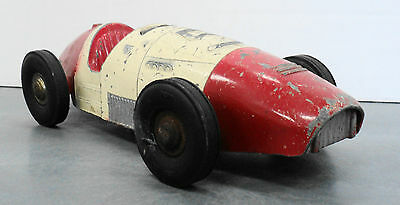 Renwal Ferrari Grand Prix racer 1950's friction toy Formula One F1 9 inches long