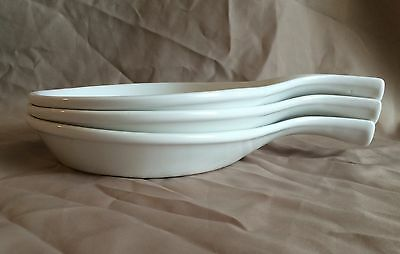 *VINTAGE Bel-Terr USA #91675 Skillets Set Of 3 White