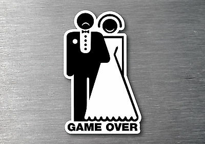 Game over sad man sticker water & fade proof 7 yr vinyl bar fridge man cave beer
