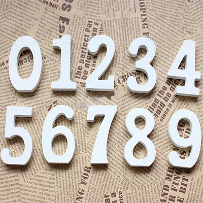 White Wooden Letters Alphabet Numbers Wedding Birthday Home Decoration