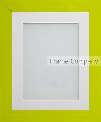 Frame Company Candy Range Lime Green Picture Photo Frames with Choice of Mounts