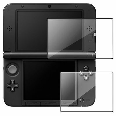 Clear Top +Bottom LCD Screen Cover Filter Skin For Nintendo 3DS XL LL