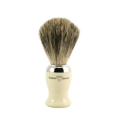 Edwin Jagger Shaving Brush, Pure Badger, Imitation Ivory