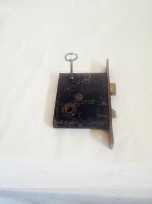 Antique Vintage SPARKS Door Mortise Lock and Skeleton Key Set Patented 1869