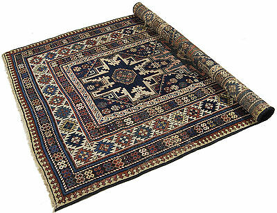 195x110 CM Antique Tappeto Carpet Tapis Teppich Alfombra Rug Russo Shirvan (Hand