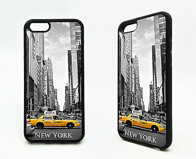 New York City Yellow Cab Taxi Skyscraper Building NYC Rubber Case Cover iPhone