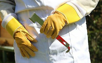 Ventilated Superior Beekeeping Bee Gloves - Soft Gold Hide - All Sizes+Free Del