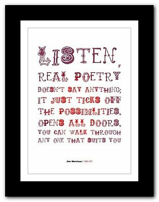 Jim Morrison ❤ The Doors typography quote poster art limited edition print # 01