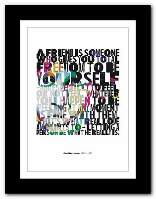 Jim Morrison ❤ typography quote poster art limited edition print The Doors #2